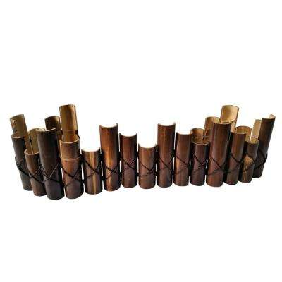 12 in., 10 in., 8 in. H x 72 in. L Picket Style Split Natural Black Bamboo Edging