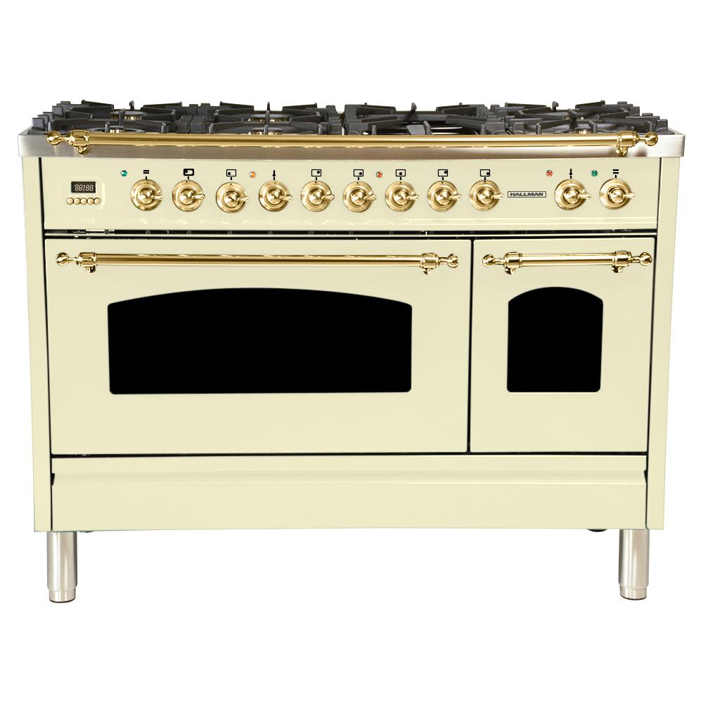 48 in. 5.0 cu. ft. Double Oven Dual Fuel Italian Range