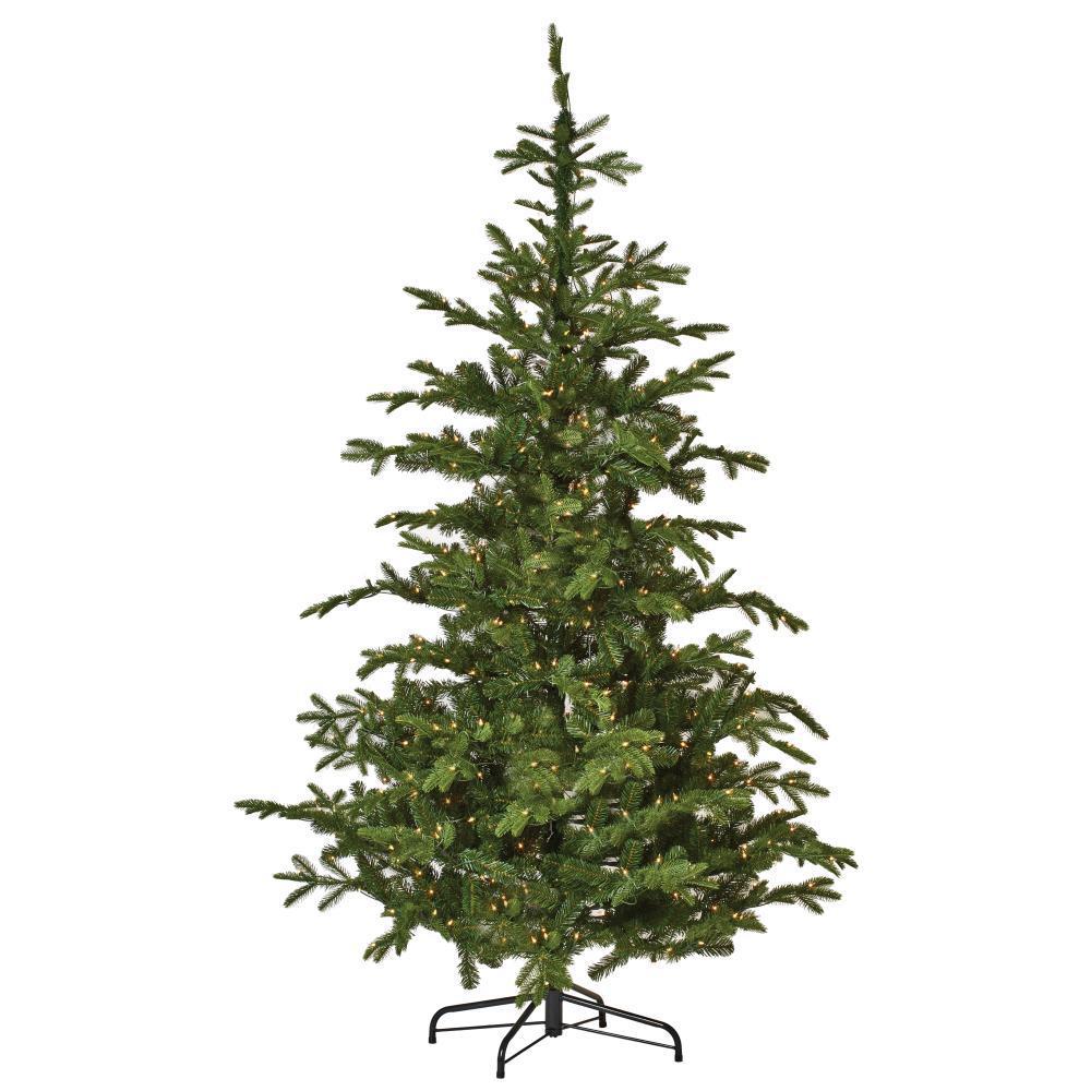 7.5 ft. Indoor Pre-Lit Norwegian Spruce Hinged Artificial Christmas Tree