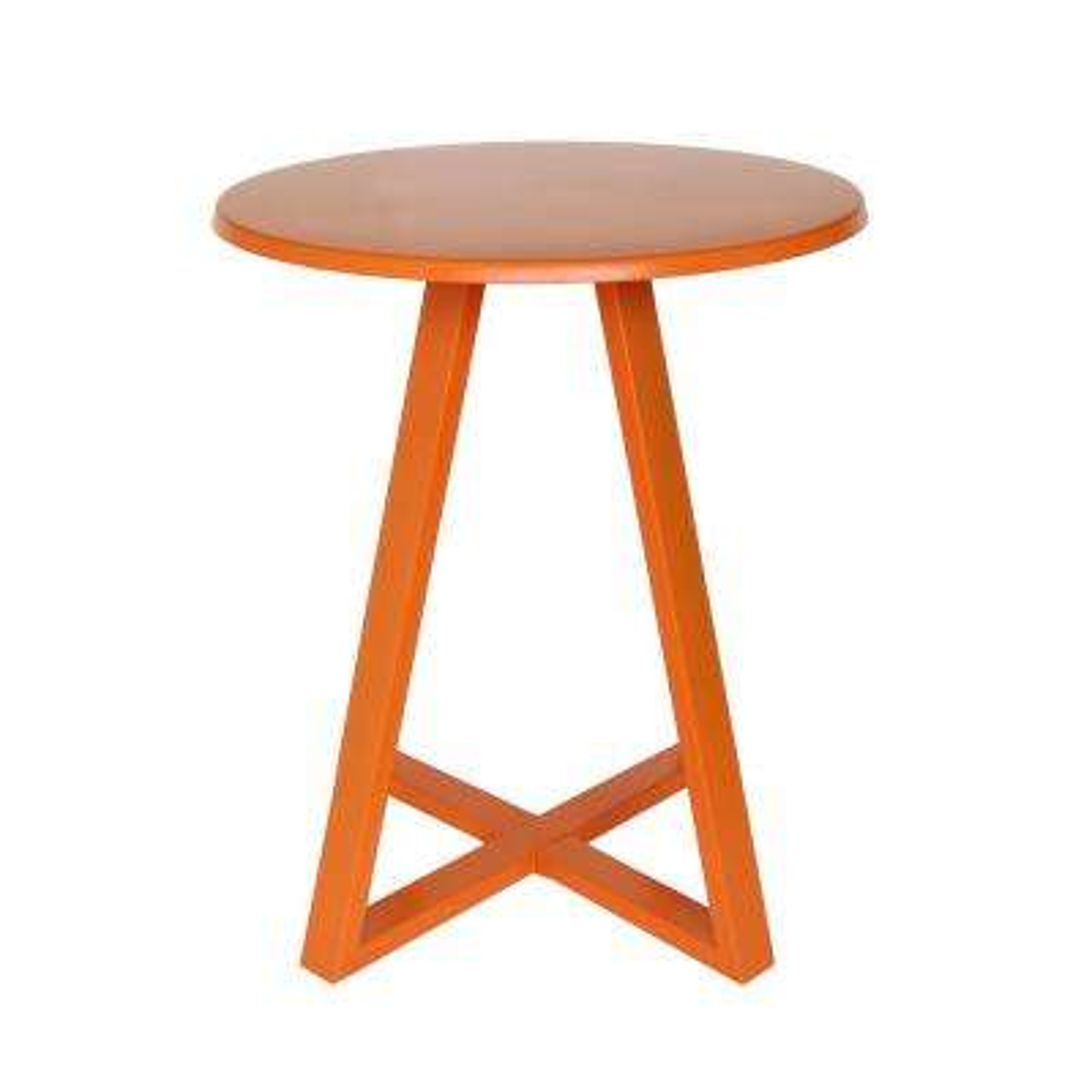 Haiti Matte Orange Round Metal Outdoor Bistro Table