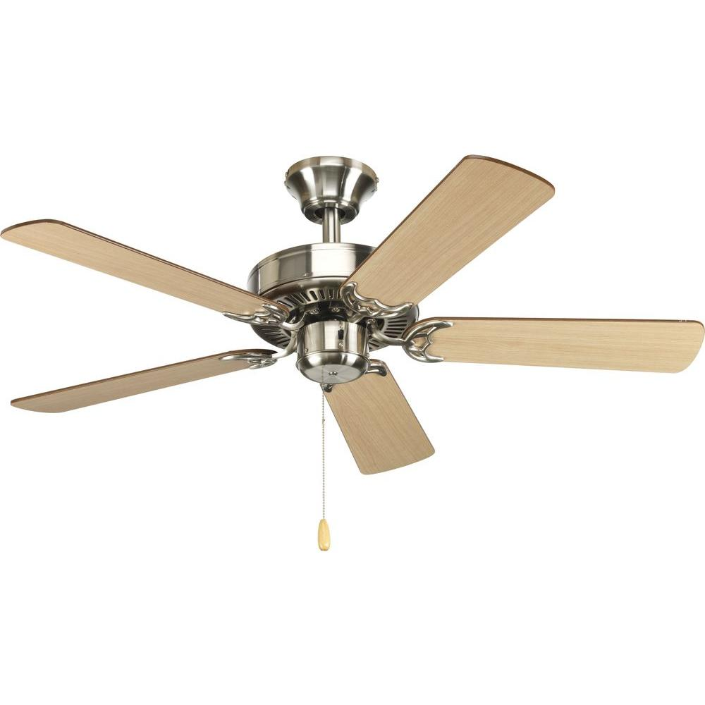 Progress lighting airpro builder 42 in brushed nickel Ceiling fans no light