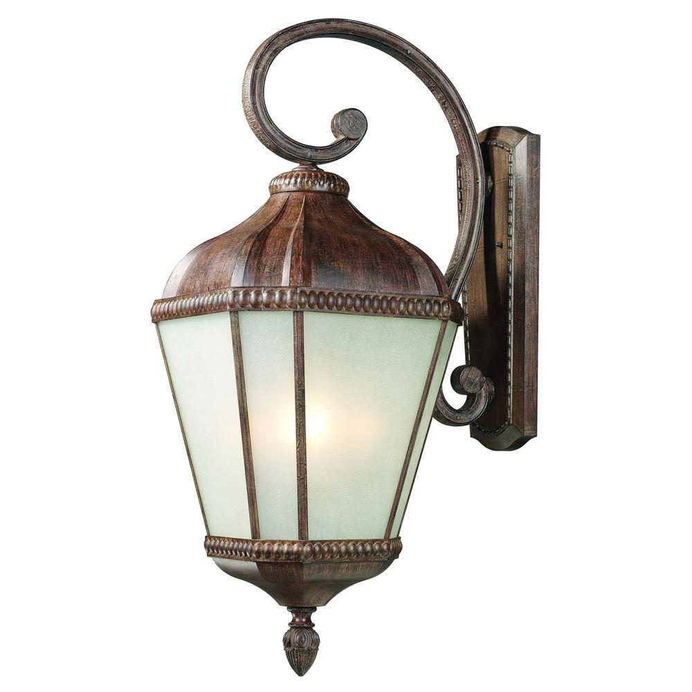 Tulen Lawrence 4 - Light Outdoor Weathered Bronze Incandescent Wall Light