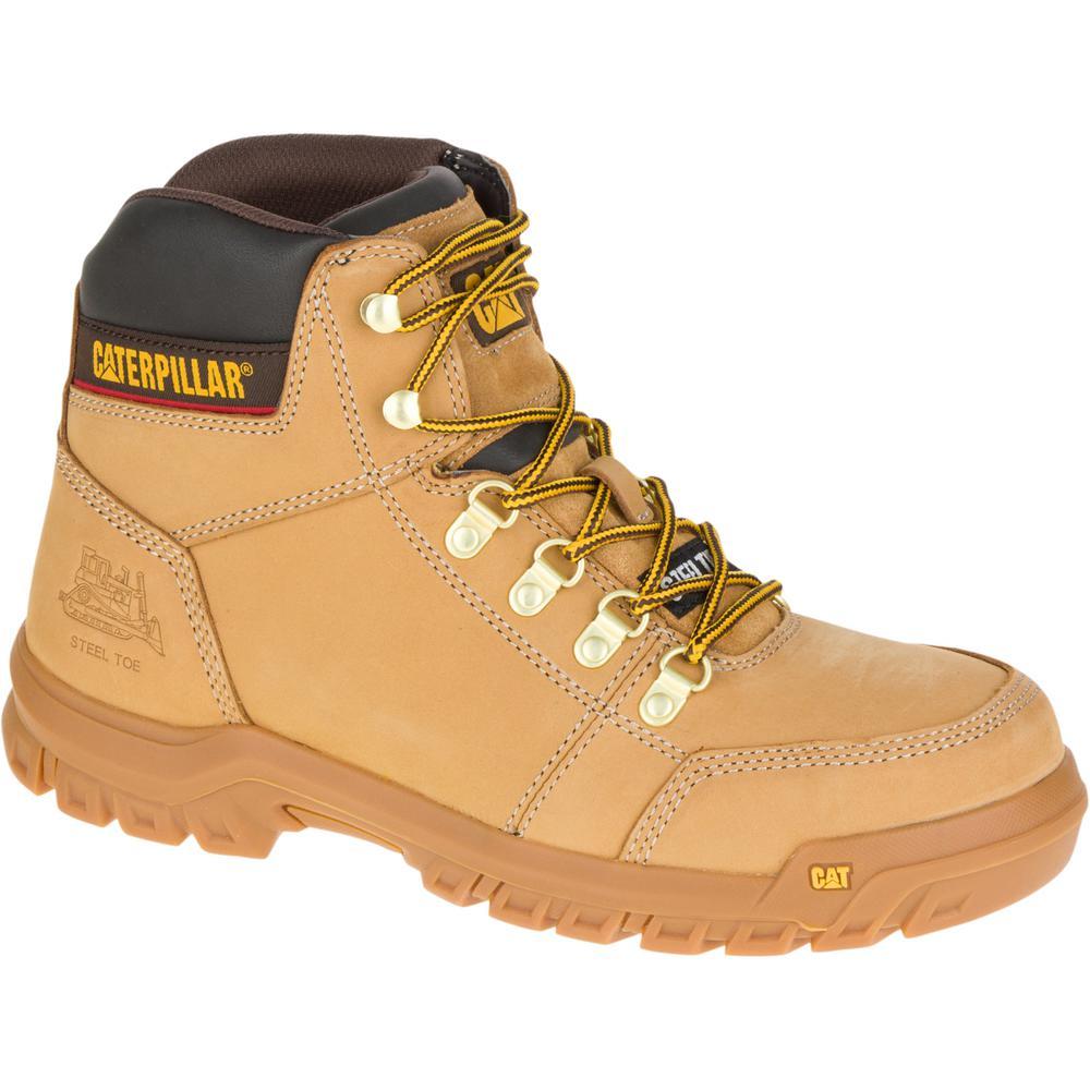 Outline Men's Size 8-1/2W Honey Steel Toe Boots