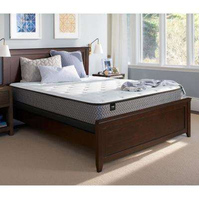 Response Essentials 10.5 in. California King Plush Tight Top Mattress Set with 9 in. High Profile Foundation