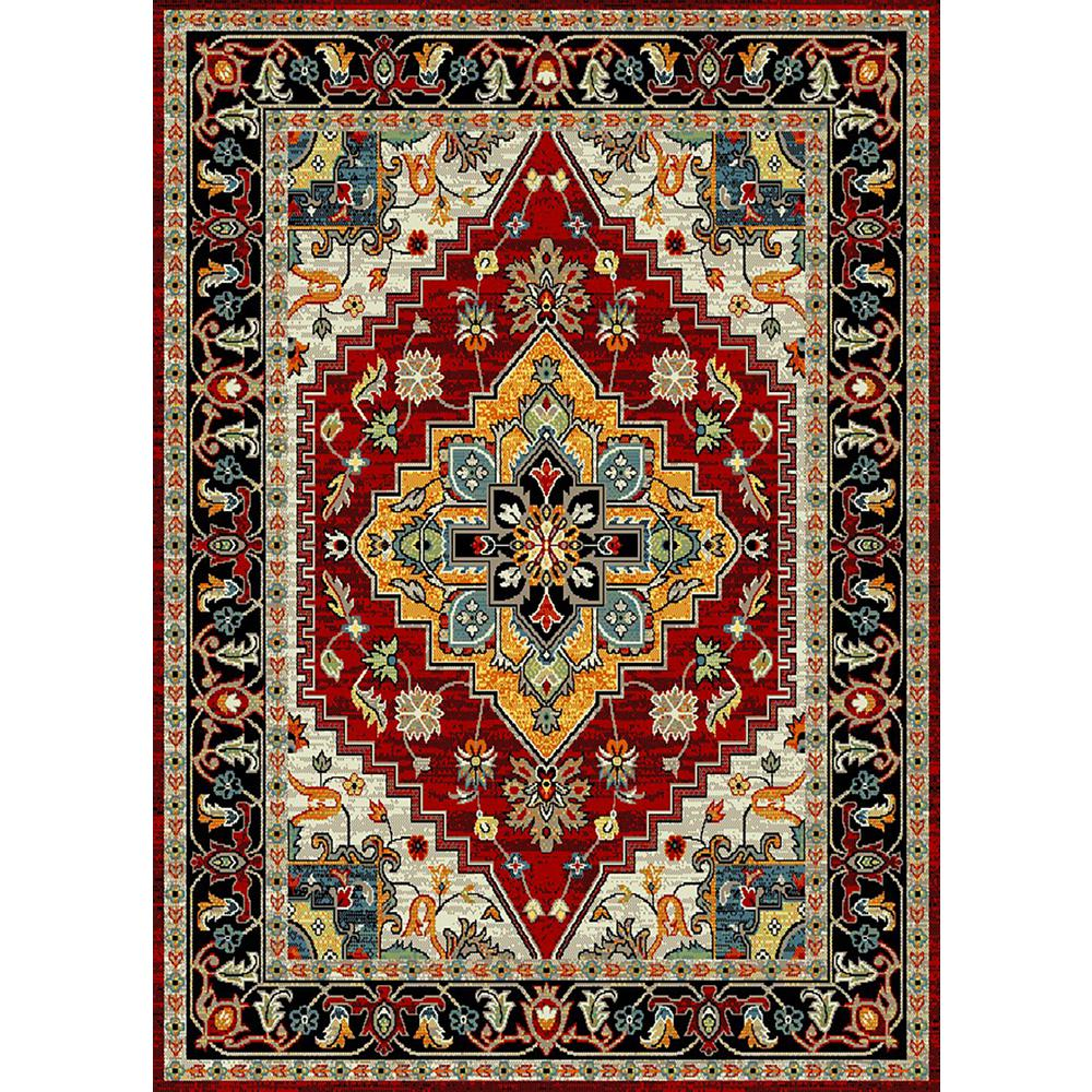 MAXY HOME Aiza Collection Red 8 Ft. X 10 Ft. Area Rug-AI
