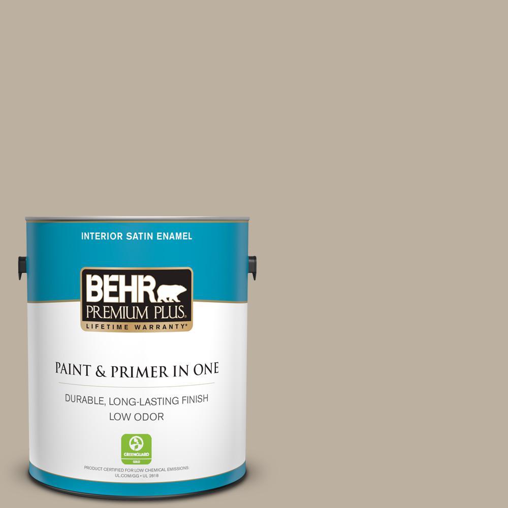 Behr Premium Plus 1 Gal 750d 4 Pebble Stone Satin Enamel Low Odor