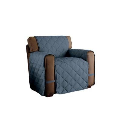 Microfiber Ultimate Slate Blue Solid Chair Protector