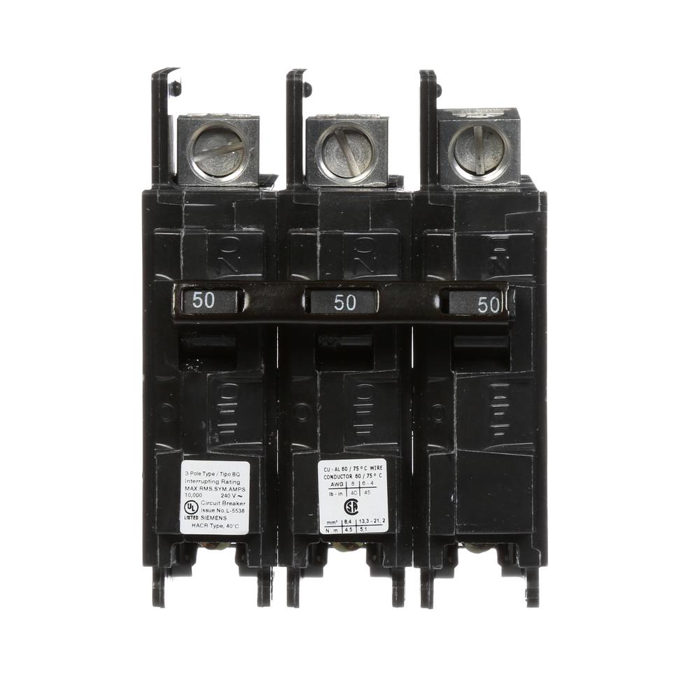 50 Circuit Breakers Power Distribution The Home Depot Eaton Type Br 20 Amp Singlepole Ground Fault Breaker 3 Pole Bq 10 Ka Lug In Out