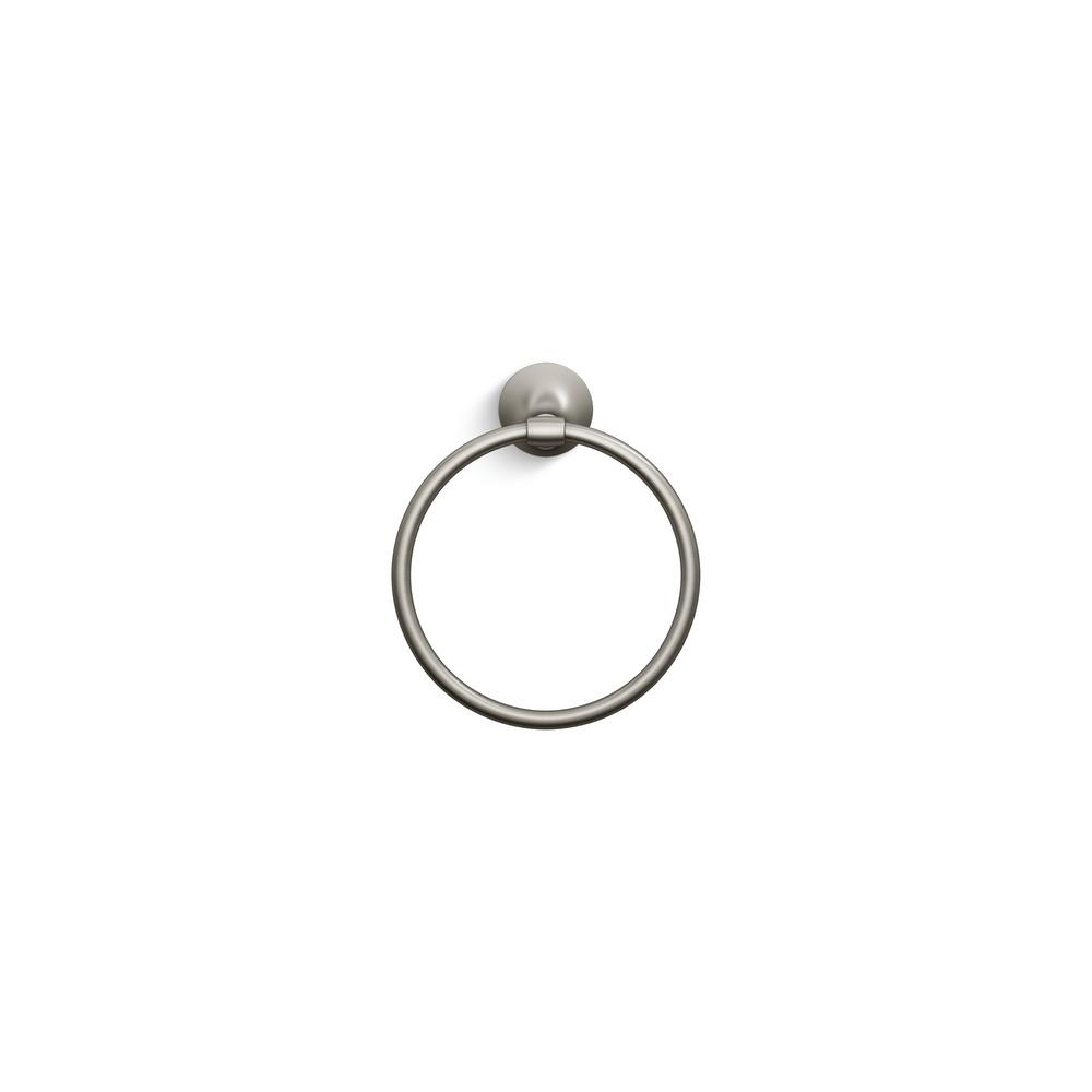 Elliston Towel Ring in Brushed Nickel