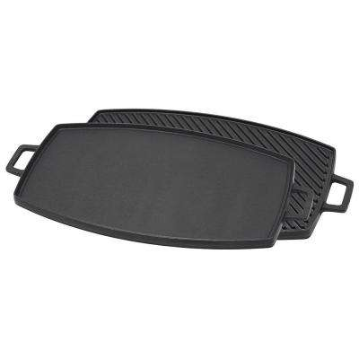 0.75 in. x 14.5 in. Cast Iron Reversible Griddle