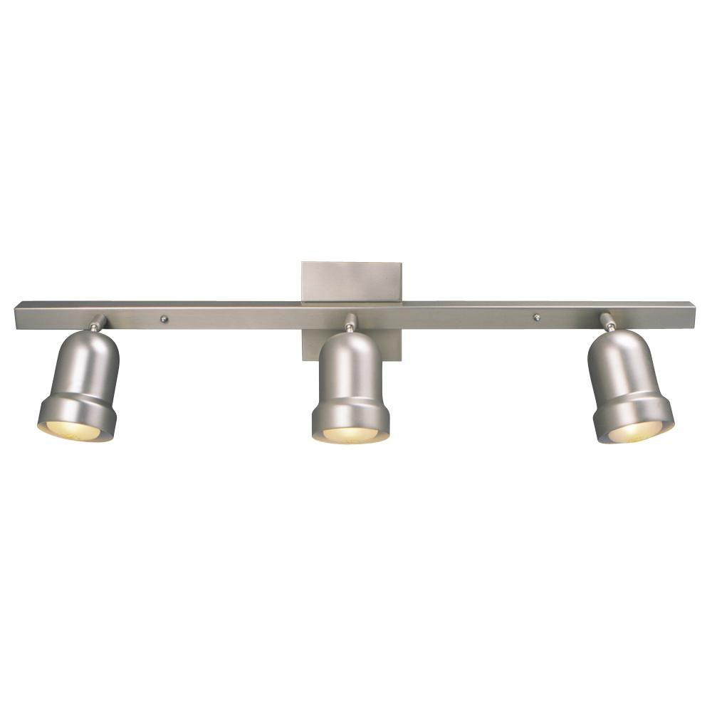 Negron 3-Light Pewter Track Lighting with Directional Heads