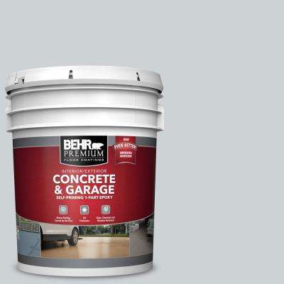 5 gal. #N510-1 Silver Shadow Self-Priming 1-Part Epoxy Satin Interior/Exterior Concrete and Garage Floor Paint