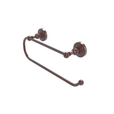 Waverly Place Wall Mounted Double Post Toilet Paper Holder in Antique Copper