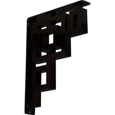 2 in. x 15 in. x 12 in. Wrought Iron Triple Center Brace Eris Bracket