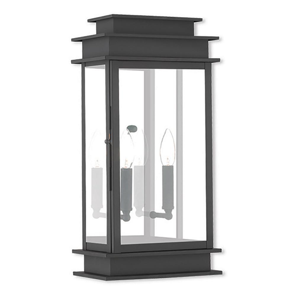 Princeton 2-Light Black Outdoor Wall Lantern Sconce