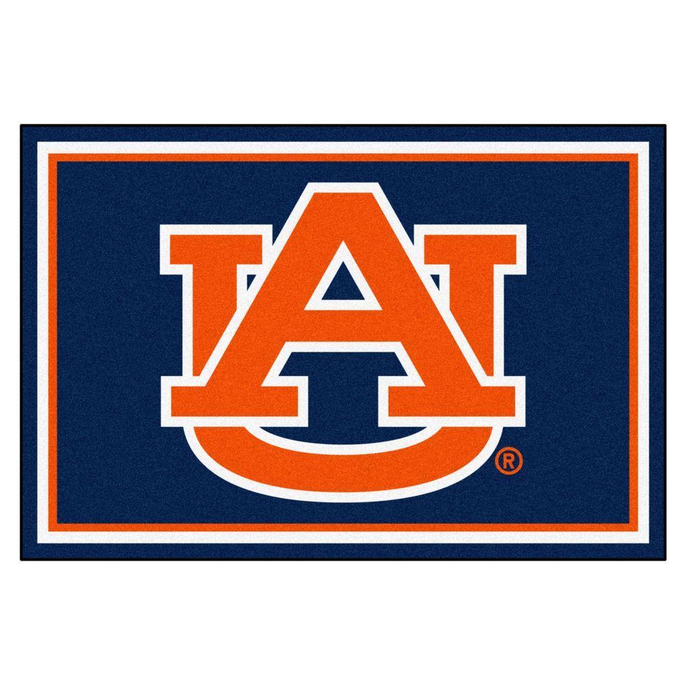 NCAA Auburn University Navy 5 ft. x 8 ft. Indoor Area Rug