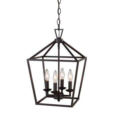 Mediterranean no additional accessories cage pendant lights lacey 4 light rubbed oil bronze pendant aloadofball Images