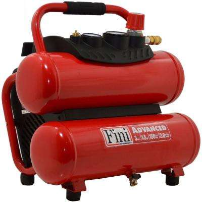 1.5 HP 3 Gal. 150 PSI Portable Electric Twin Stack Air Compressor