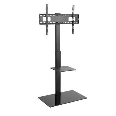 TV Floor Stand for 37-70 in. TVs with a Built-In AV Shelf and Glass Base