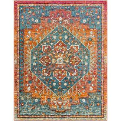 5x7 Rugs Under 50.Caius Orange 2 Ft X 3 Ft Oriental Area Rug