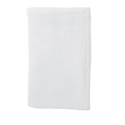 Cotton Weave White Throw Blanket