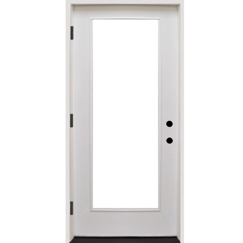Steves sons 36 in x 80 in premium full lite primed for White front door with glass
