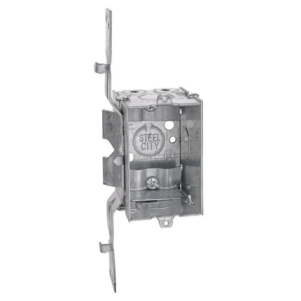 3 in. x 2-1/2 in. Deep Switch and Outlet Box with SV Clamp (Case of ...
