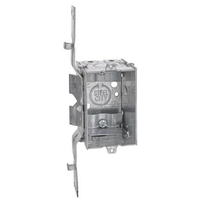 1-Gang 3 in. x 2-1/2 in. New Work Metal Deep Switch and Outlet Electrical Box with SV Clamp (Case of 25)