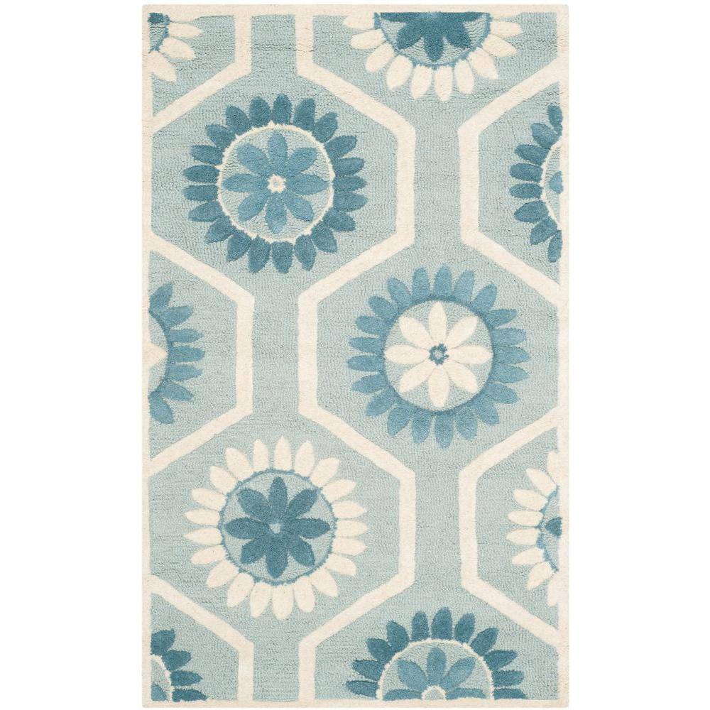 Cambridge Blue/Ivory 2 ft. x 3 ft. Area Rug