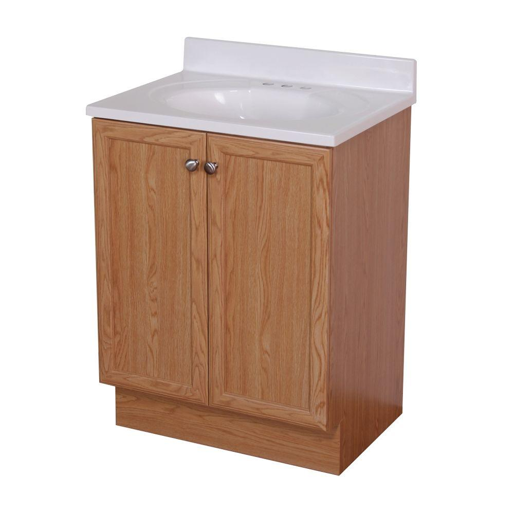Woodcrafters New Mexico 24 In Vanity In Oak With Cultured