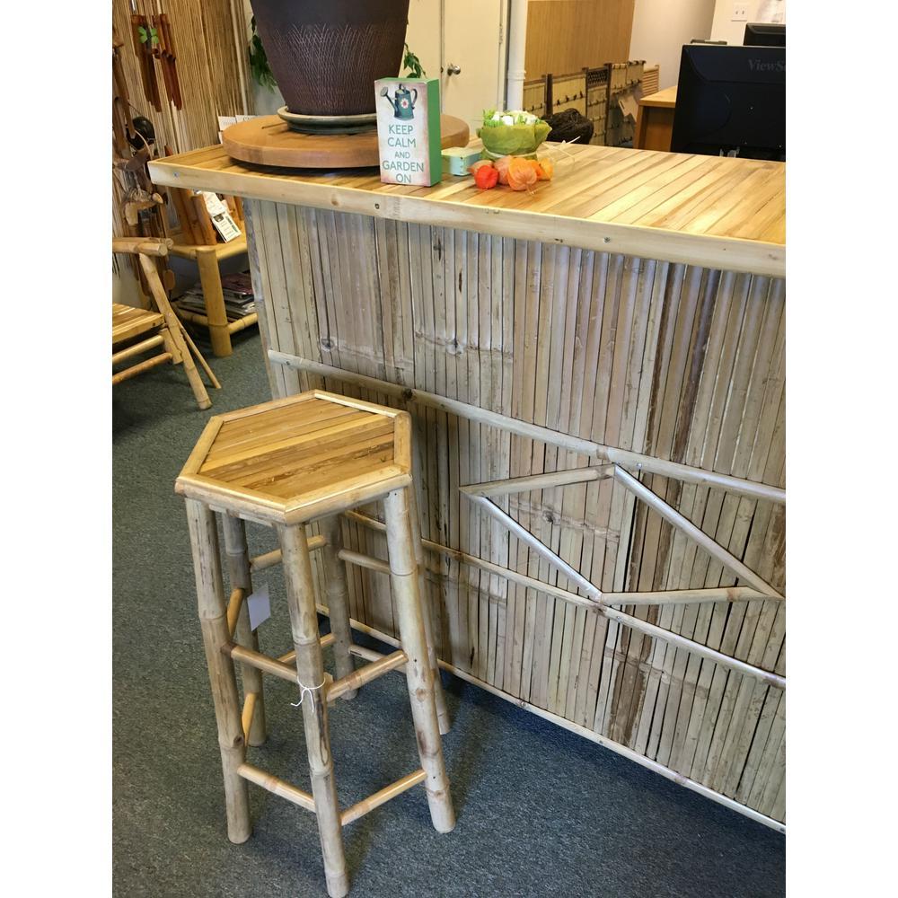 Hexagon bamboo bar stool