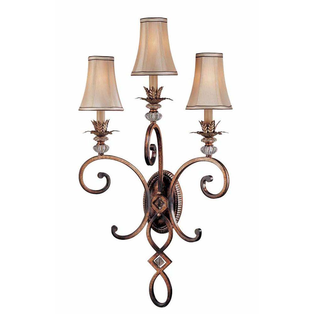 Minka Lavery Aston Court 3-Light Bronze Sconce