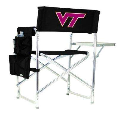 Virginia Tech Black Sports Chair with Digital Logo