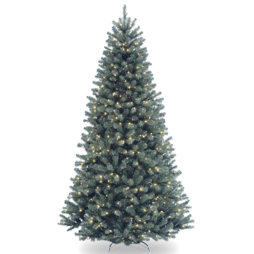 national tree company 65 ft north valley blue spruce artificial christmas tree with clear lights - Blue Spruce Artificial Christmas Tree