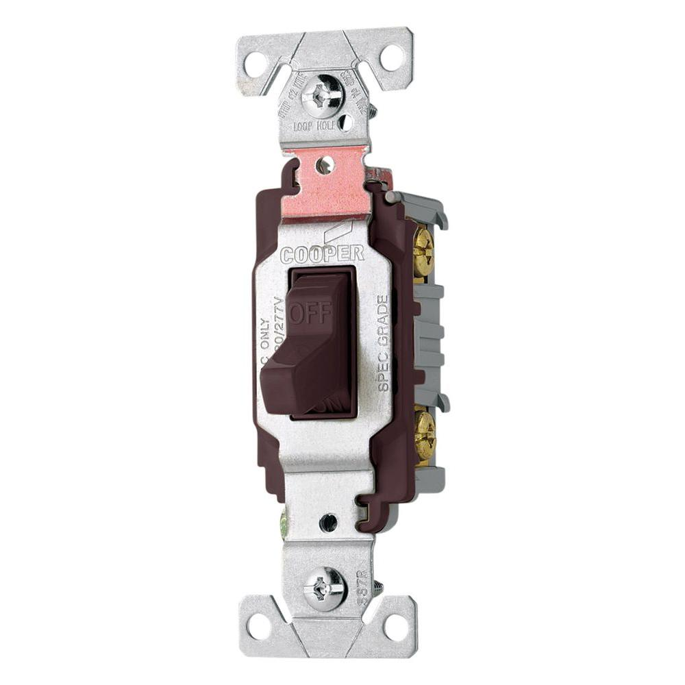 Eaton 20 Amp Double Pole Premium Toggle Switch, Brown-CS220B - The ...