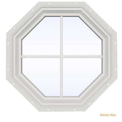 O V2500 Series White Vinyl Fixed Octagon Geometric