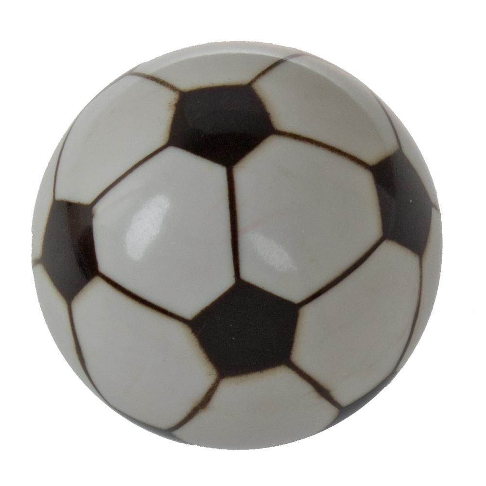 1-1/4 in. Dia Soccer Ball Sports Cabinet Dresser Knob (10-Pack)