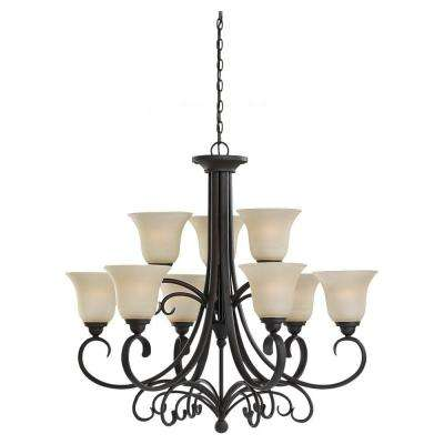 Del Prato Collection 9-Light Chestnut Bronze Chandelier