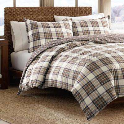 Edgewood 2-Piece Khaki Twin Duvet Cover Set