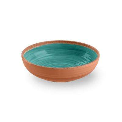 Turquoise Melamine Bowl Rustic Swirl (Set of 12)