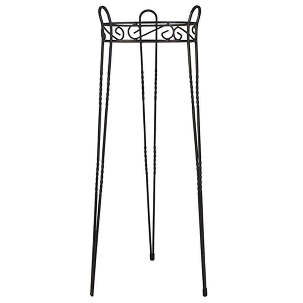 30 in. Canterbury Scroll Top Metal Plant Stand