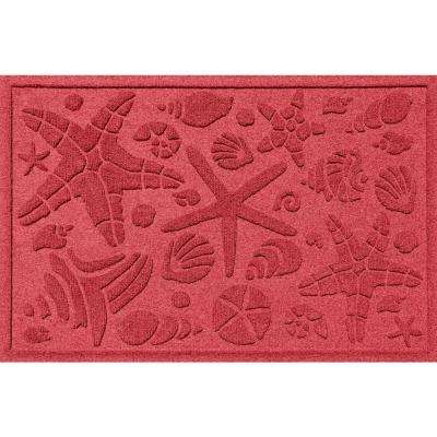 Solid Red 24 in. x 36 in. Beachcomber Polypropylene Door Mat
