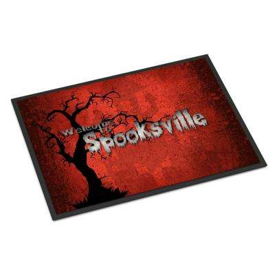 18 in. x 27 in. Indoor/Outdoor Welcome to Spooksville Halloween Door Mat
