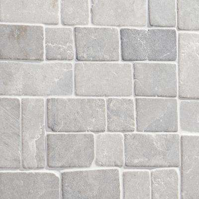 Countryside Interlocking 11.81 in. x 11.81 in. Gray Floor and Wall Mosaic (0.97 sq. ft. / sheet)