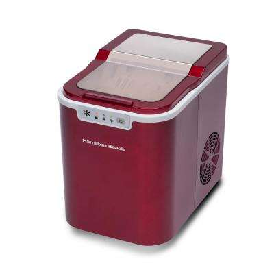 27 lb. Free standing Ice Maker in Red