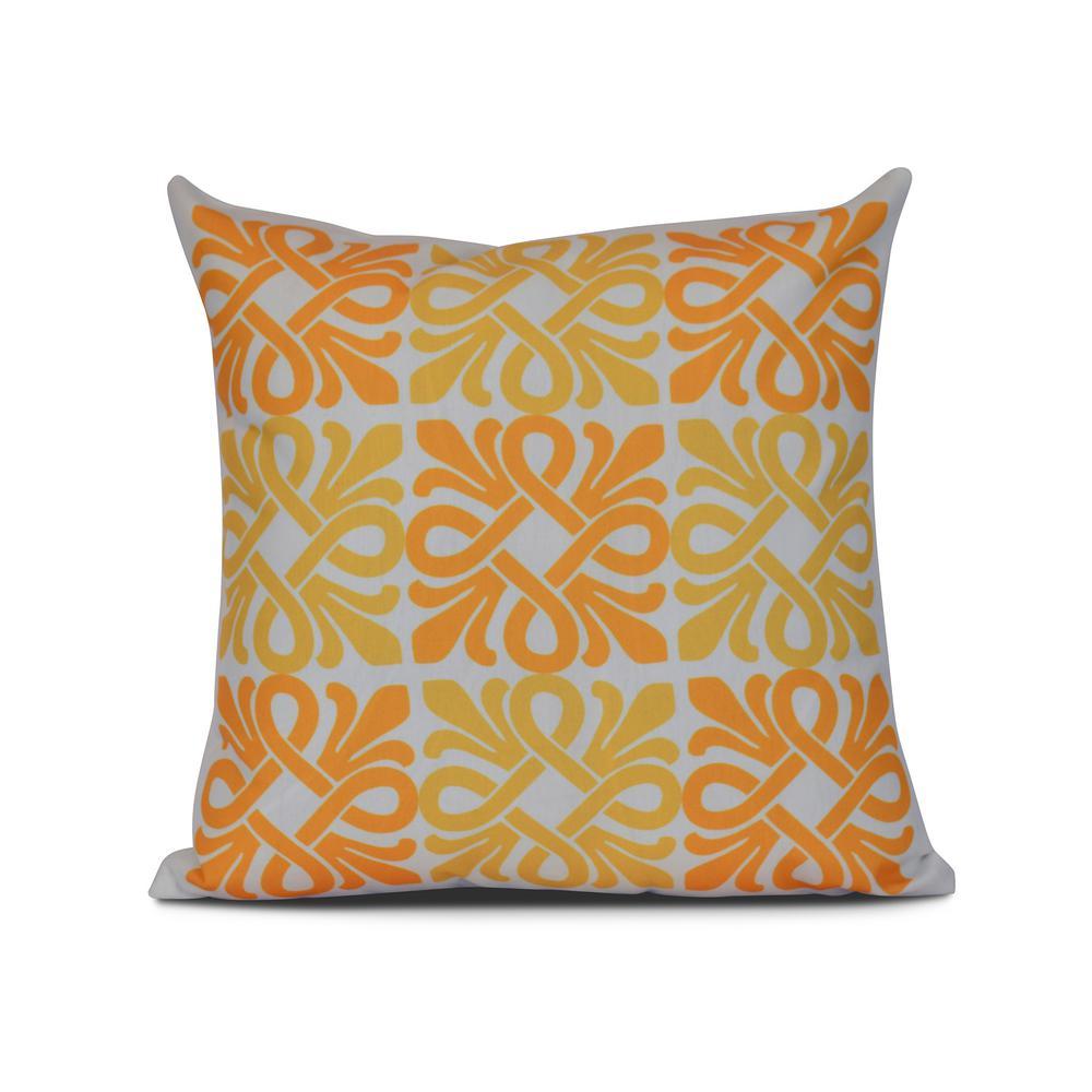 Internet 301006600 16 In Yellow Tiki Square Geometric Print Pillow
