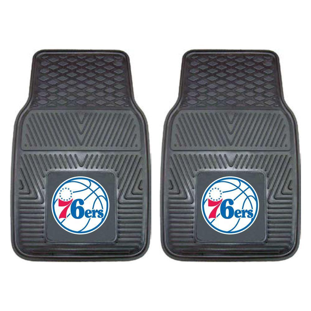 NBA Philadelphia 76ers Heavy Duty 2-Piece 18 in. x 27 in. Vinyl Car Mat