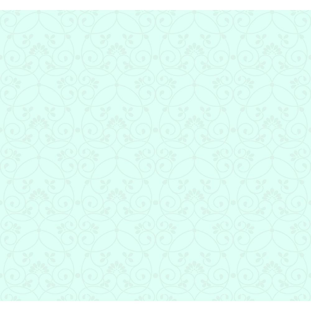 Growing Up Kids Glitter Scroll Removable Wallpaper, Blue/...