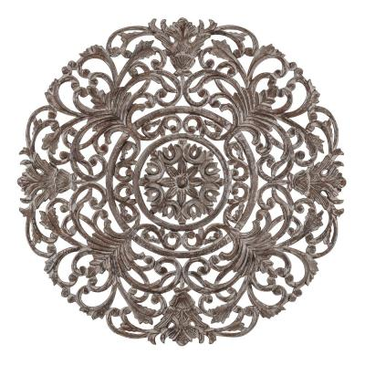 Frasso 35.5 in. x 35.5 in. Grey Medallion by Madeleine Home Wooden Wall Art/ Sculptures