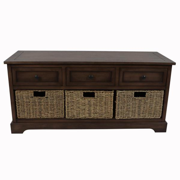 Decor Therapy Montgomery Brown Bench FR8751